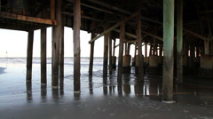 Daytona Beach Florida Pier Stock Footage