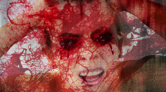 See no Evil Concept Abstract Blood Splatter strobe Stock Footage