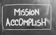 Stock Illustration of mission accomplish concept