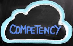 Stock Illustration of competency concept