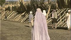 Muslim Woman Burka AFGHANISTAN Kabul 1980s Vintage Film Home Movie 7185 - stock footage