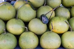 pomelo or pummelo - stock photo