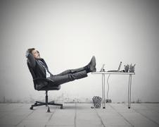 relax in office - stock photo