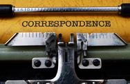 Stock Photo of correspondence text on typewriter