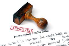 Credit limit - approved Stock Photos