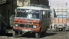 Bus Street KABUL AFGHANISTAN Pre War City 1980s Vintage Film Home Movie 7186 Stock Footage