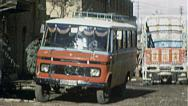 Stock Video Footage of Bus Street KABUL AFGHANISTAN Pre War City 1980s Vintage Film Home Movie 7186
