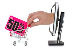 Stock Illustration of internet sale concept