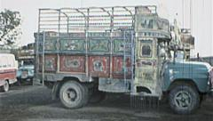 AFGHANISTAN Kabul Bus Truck Tuk Tuk Jitney 1980s Vintage Film Home Movie 7188 - stock footage