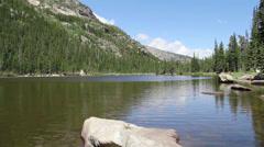 Lake-Rocky Mountain National Park Stock Footage
