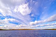 Stock Photo of dramatic skies in the boundary waters