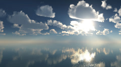 3d animation timelaps clouds over the sea 1920x1080p Stock Footage