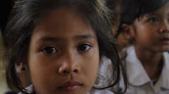 Beautiful Cambodian Orphan Girl Stock Footage