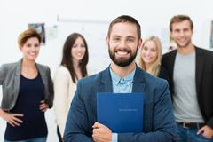 confident happy businessman - stock photo