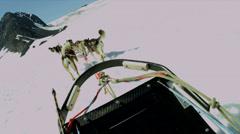 POV view of dogsledding  Chugach Mountains, Alaska, - stock footage