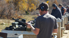 Nice day at the range Stock Footage
