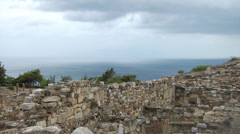 The ruins of the ancient city of Kameiros. Rhodes Island. Greece. Stock Footage