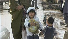 Mother Children Street Burka AFGHANISTAN 1980s Vintage Film Home Movie 7195 Stock Footage