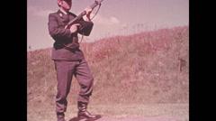 1950 - BGS - Shooting Rifle - 02 Stock Footage