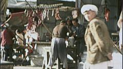 Butcher Shop AFGHANISTAN Kabul Grind Meat 1980s Vintage Film Home Movie 7196 Stock Footage