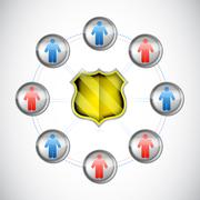 security network concept illustration design - stock illustration