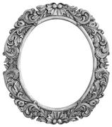 Antique silver plated frame - stock photo