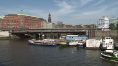 Panoramic View of Hamburg, Germany Stock Footage