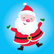 Happy Santa Claus - stock illustration