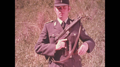 1950 - BGS - MP5 shooting - 01 Stock Footage