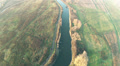 The river from height. Aerial. HD Footage