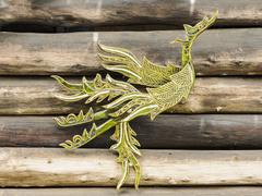 mythical thai style handcrafted a swan. - stock photo