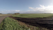 Stock Video Footage of Farmland fields in the Cambridgeshire fens England