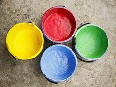 old containing color silkscreen. - stock photo