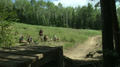 Mountainbike small jump Stock Footage