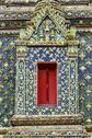 Stock Photo of beautiful window in thai public temple.