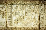 Stock Photo of traditional chinese stone engrave art wall.