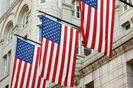 Stock Photo of three american flags