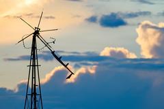 Dilapidated Windmill Sky Stock Photos