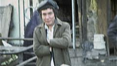 FRUIT SNACK Street Seller Vendor AFGHANISTAN Kabul 1980s Vintage Film Home Movie Stock Footage
