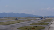 Stock Video Footage of Planes at Kansai Airport Time Lapse