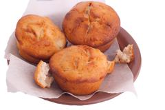 Stock Photo of muffins on brown saucer