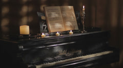 The piano Stock Footage