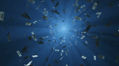 Dollars falling into the hole Stock Footage