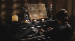Piano practice Stock Footage