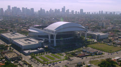 Miami Marlins Ballpark Aerial 1080p Stock Footage