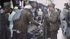 Marketplace AFGHANISTAN Kabul People Shop 1980s Vintage Film Home Movie 7206 Stock Footage