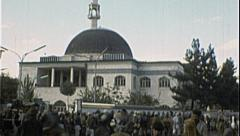 Abdul Rahman Islam Mosque AFGHANISTAN Kabul 1980s Vintage Film Home Movie 7207 Stock Footage