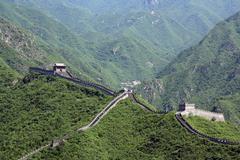 chinese great wall at juyongguan - stock photo