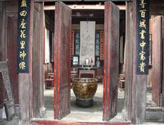 Traditional chinese room interior, anhui, china Stock Photos