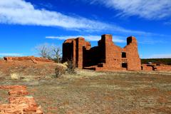 Spanish and indian ruins Stock Photos